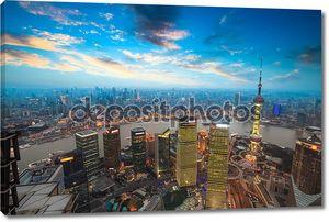 Шанхай в закат