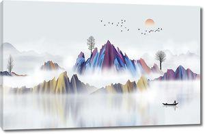 Декоративная раскраска гор