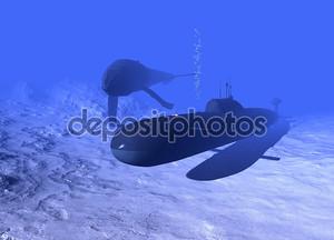 Подводная лодка и Кит