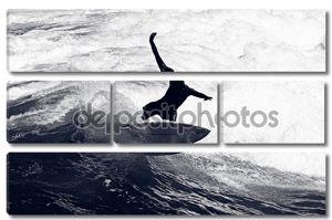 Серфер верхом волны