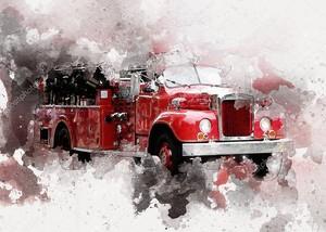 Ретро-классический красный автомобиль