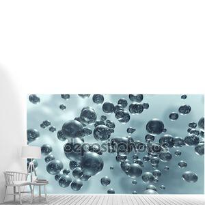 Выращивание жидкость молекулы пузыри
