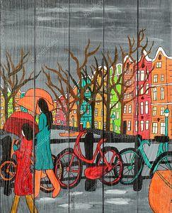 Дождь в старом Амстердаме
