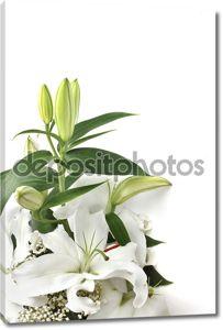 Цветы белые лилии