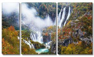 Водопады высоко в горах