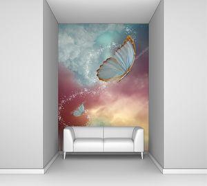 Большие бабочки в фантастическом небе