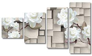 Хаотичные кубы с розами