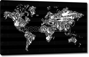 Карта мира музыки