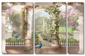 Летняя веранда с видом на сад