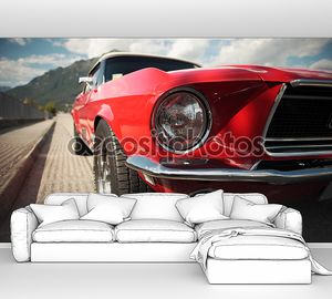 классический автомобиль с высокой мощностью