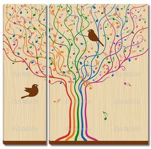 Музыкальные дерево