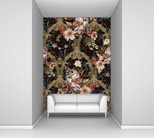 Пышный цветочный орнамент