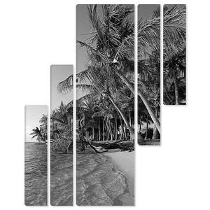 Черный и белый пляж в тропических назначения