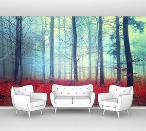 Фантастический вид осеннего леса