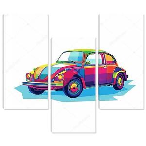 Красочные классический автомобиль иллюстрации, рисование автомобилей, автомобилей вектор