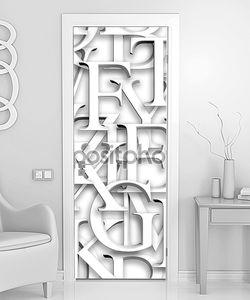 Бесшовные шаблон. повторяя текстуру с белыми 3d буквами