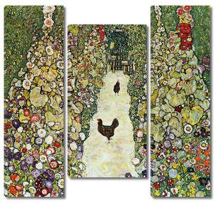 Густав Климт. Сад с курицами (Погибла в пожаре 1945)