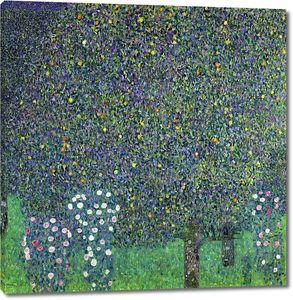 Климт Густав. Розы под деревьями
