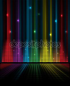 Абстрактный фон идея концепция музыки объем эквалайзера