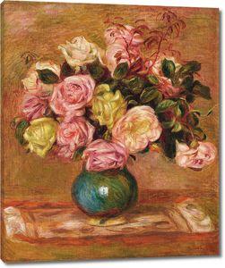 Ренуар. Букет из роз в вазе