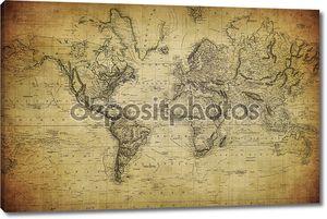 Старинные карты мира 1814