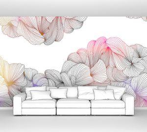 Lusso-переплетение разноцветных линий на белом