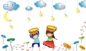 Дети собирают звезды