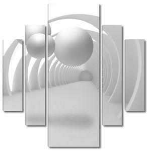 Три белых шара в туннеле
