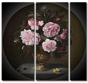 Кампробин Педро де. Бронзовая ваза с розами