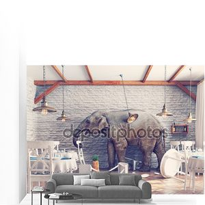 Слон в ресторан