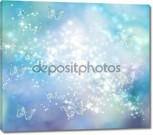 Бабочка синих огней фон