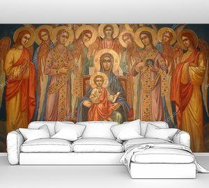 Дева Мария с младенцем Иисусом и хором ангелов