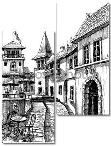 Старый мирный город, рисунок