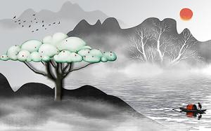 Облачное дерево на холме