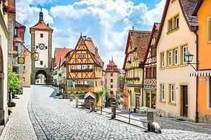 средневековый город Ротенбург об дер Таубер, Франкония, Бавария, Германия