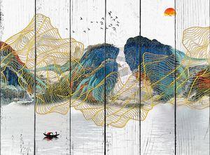 Разноцветные абстрактные горы