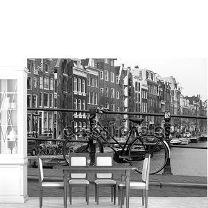 Черный и белый Амстердам