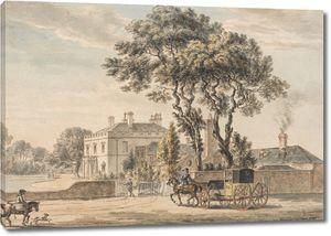 Пол Сэндби. Вид с северо-востока на дом сэра Джона Эльвила на Энглфилд-Грин возле Эгама в Суррее