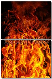 Пожар на черном фоне