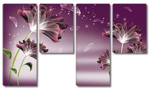Цветы с облетающими лепестками