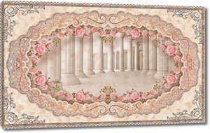 Колоннада в рамке из цветов
