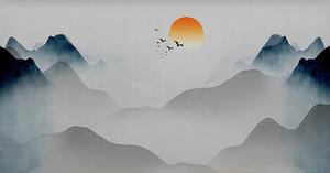 Солнце над чернильными горами