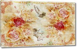 Ангелочки в розах