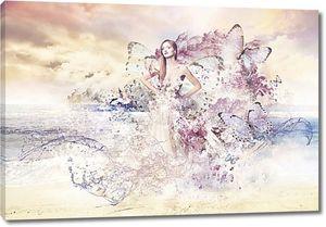 Девушка в бабочках