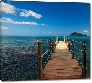 деревянный мост - море, лето