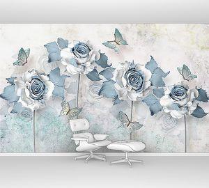 Цветы с голубыми лепестками