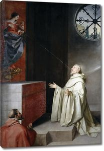 Кано Алонсо. Святой Бернард и Дева Мария