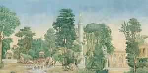Пейзаж с античными элементами