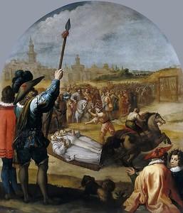 Висенте Кардучо. Мученичество трех картезианских монахов в Лондоне