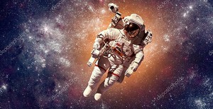 Космонавт в космосе